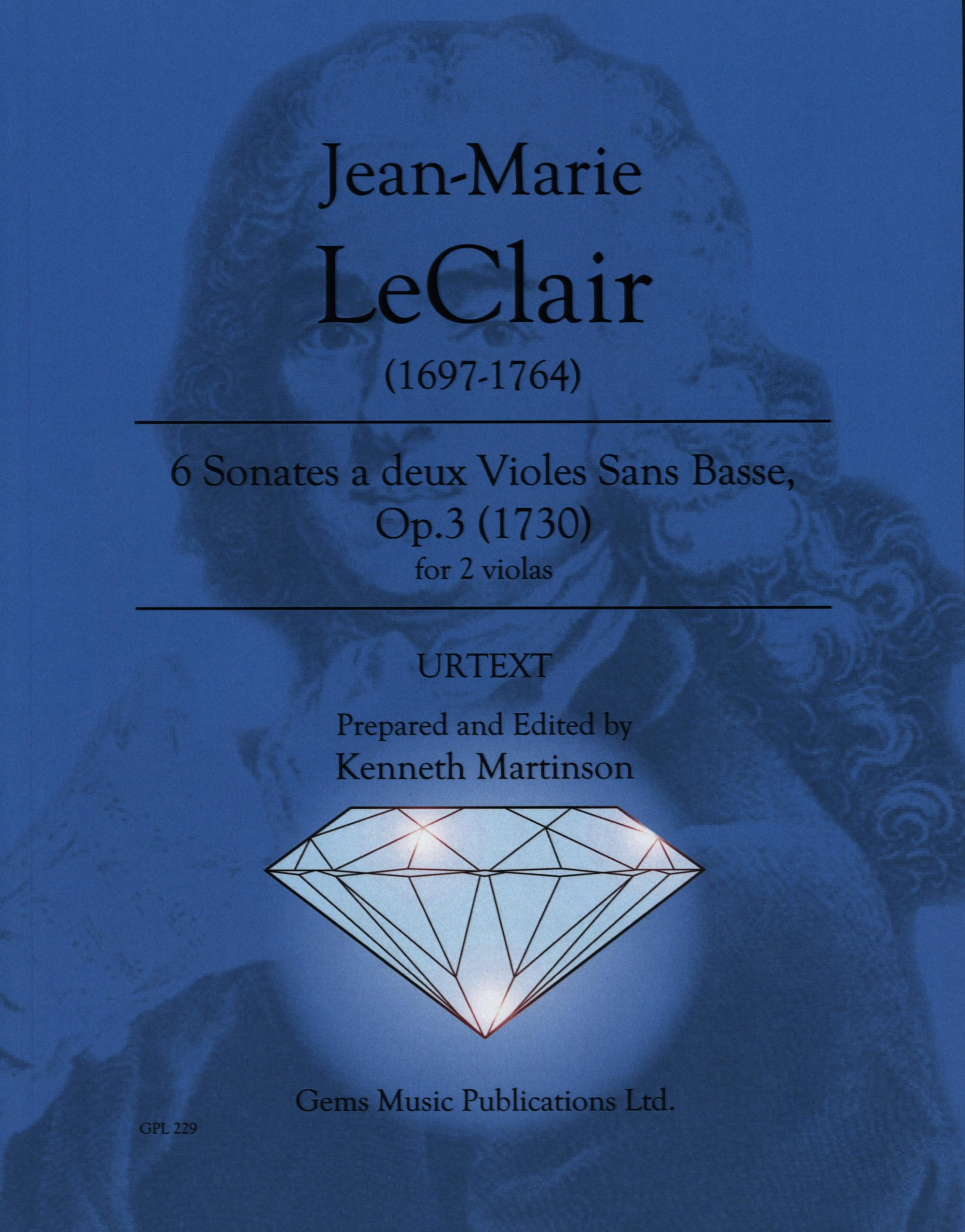 Leclair: 6 Sonatas for 2 Violas without Bass, Op. 3