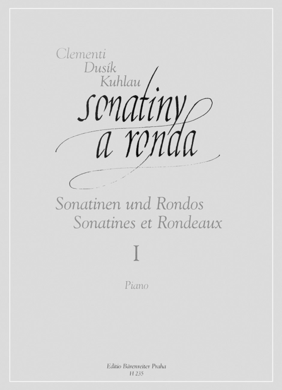 Sonatinas and Rondos by Clementi, Dusík and Kuhlau