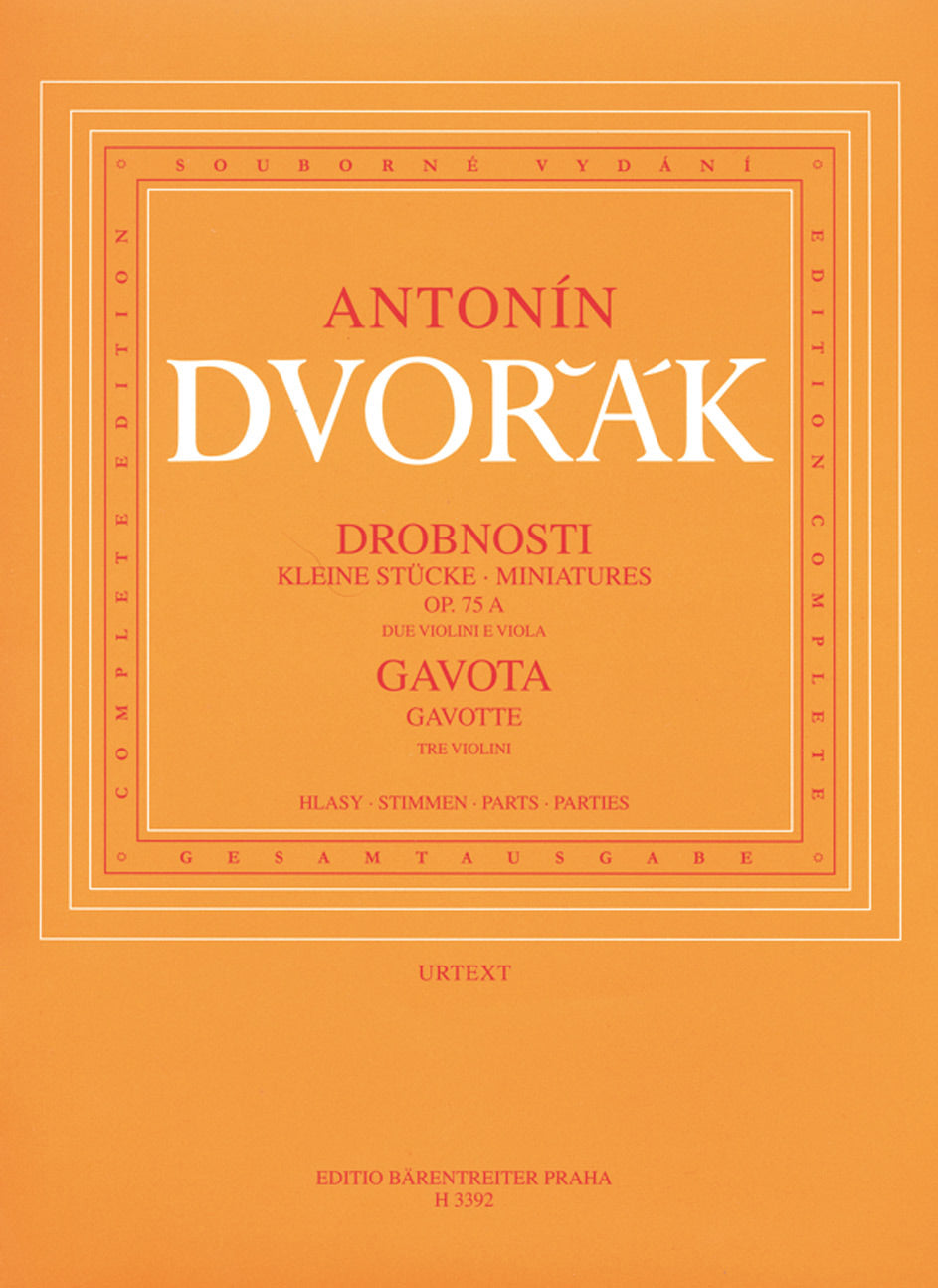 Dvořák: Four Miniatures, Op. 75a and Gavotte, B 164