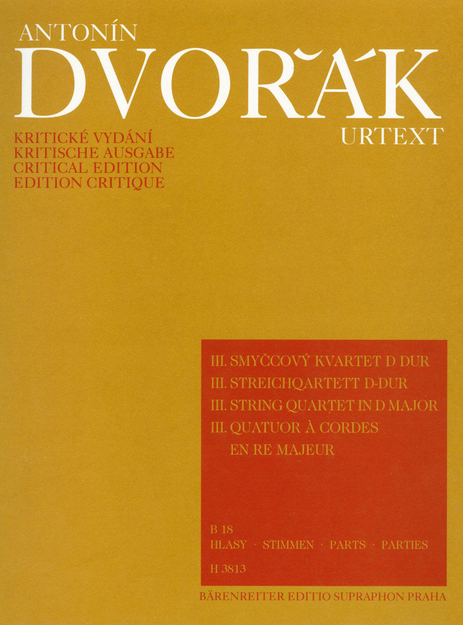 Dvořák: String Quartet No. 3 in D Major