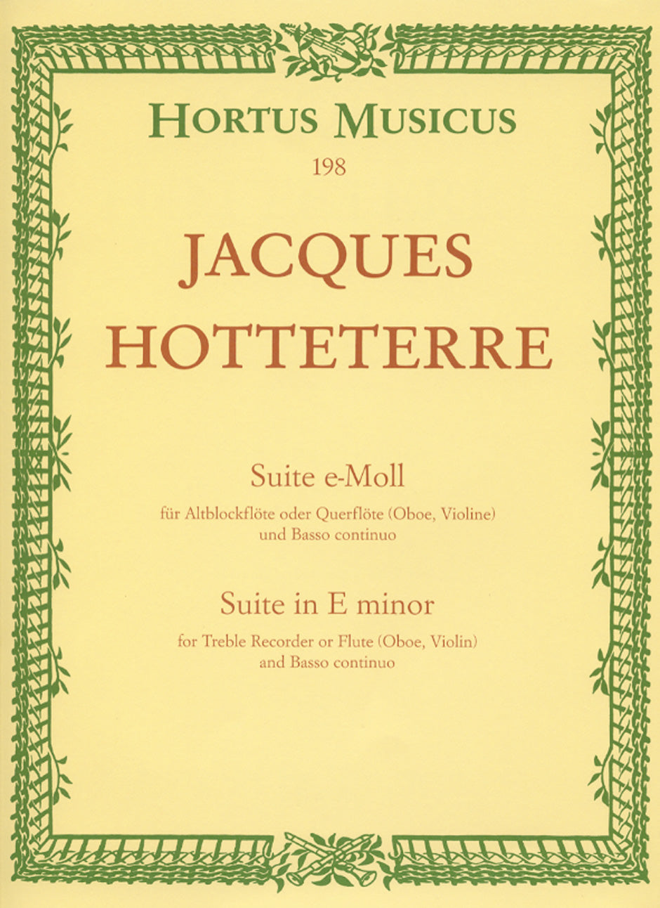 Hotteterre: Suite in E Minor, Op. 5, No. 2
