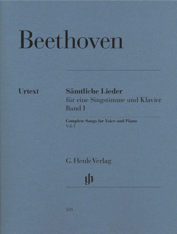 Beethoven: Complete Songs for Voice and Piano - Volume 1