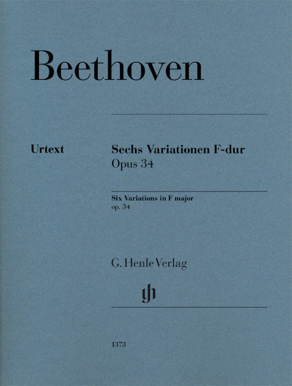 Beethoven: 6 Variations in F Major, Op. 34