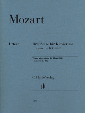 Mozart: Three Movements for Piano Trio, Fragments K. 442
