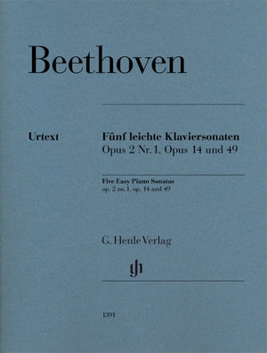 Beethoven: 5 Easy Piano Sonatas, Op. 2, No. 1, Op. 14 an, Op. 49