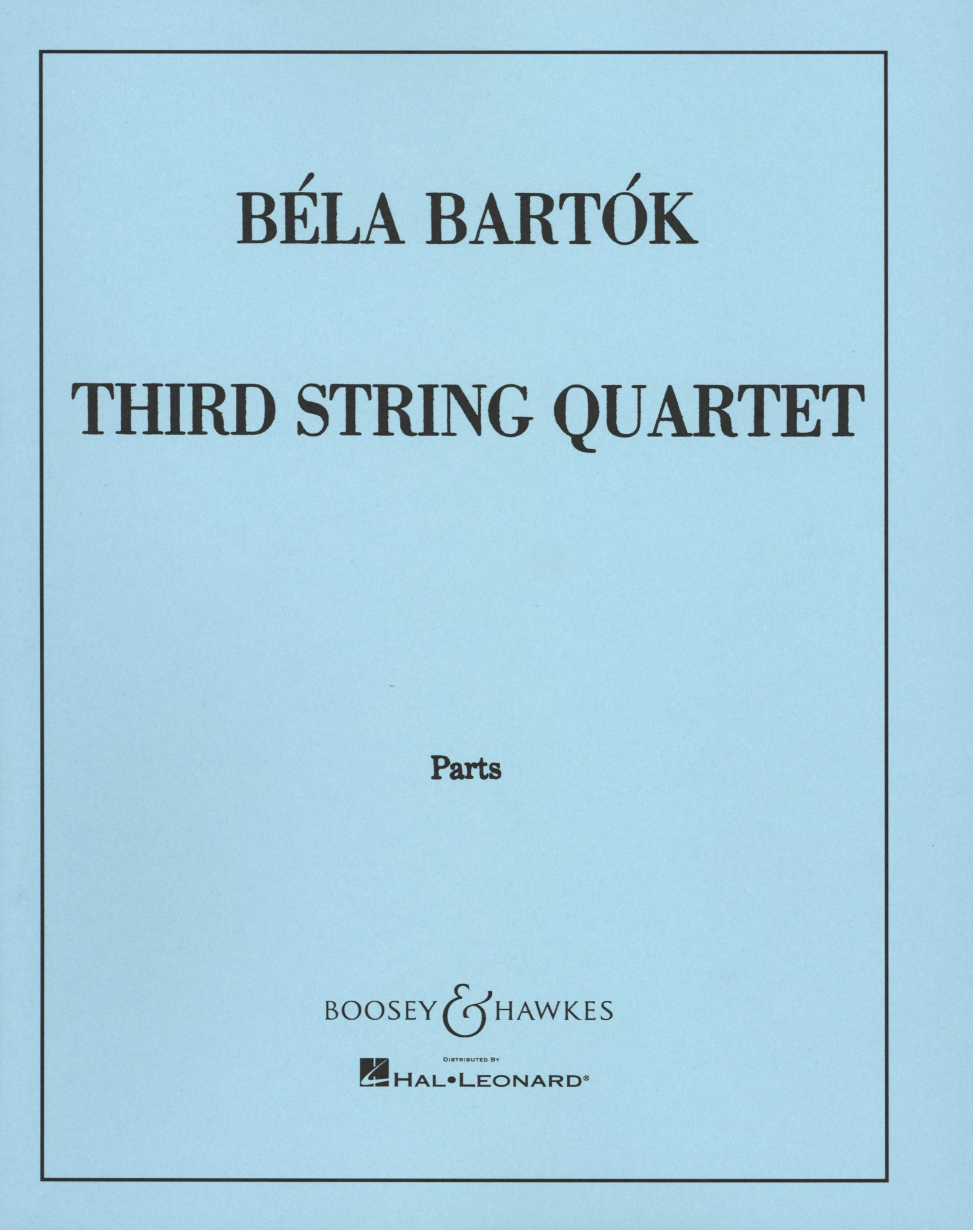 Bartók: String Quartet No. 3