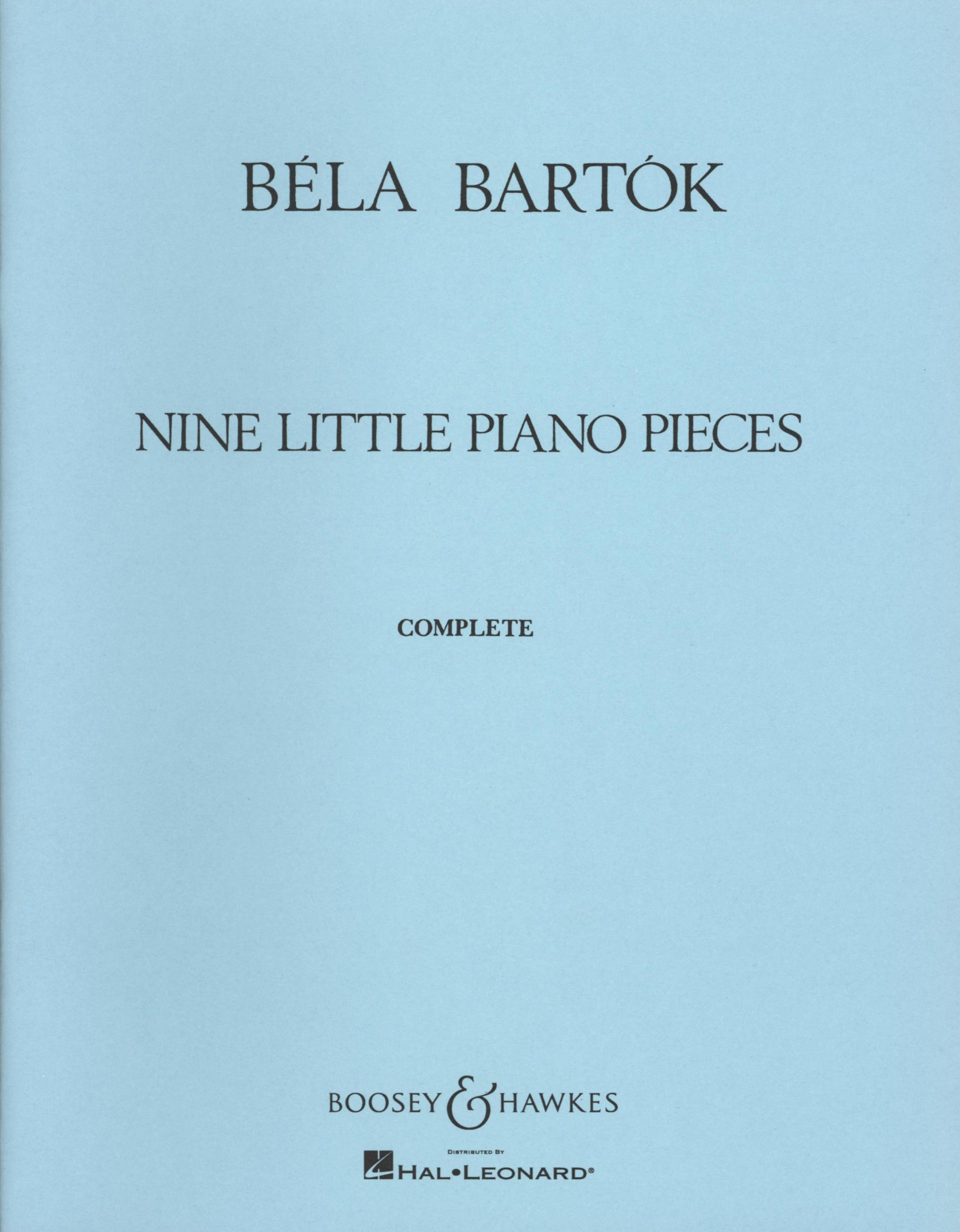 Bartók: 9 Little Piano Pieces
