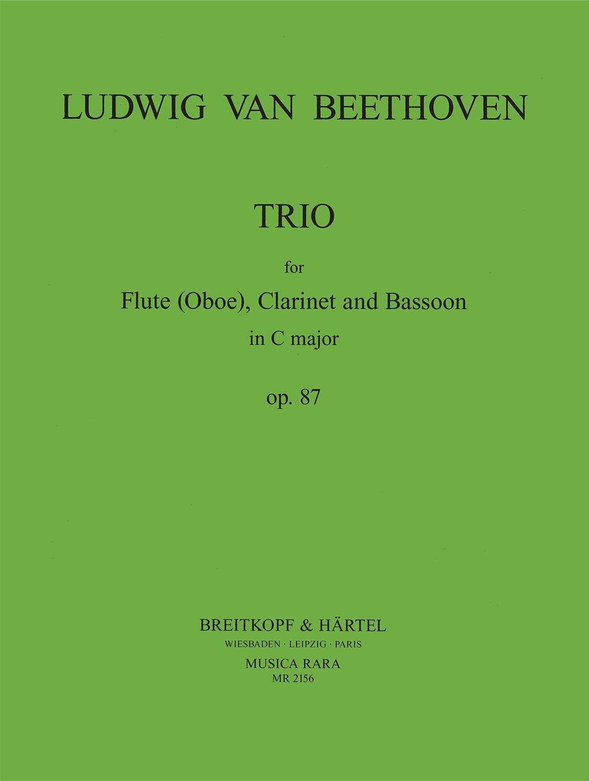 Beethoven: Trio, Op. 87 (arr. for flute/oboe, clarinet & bassoon)
