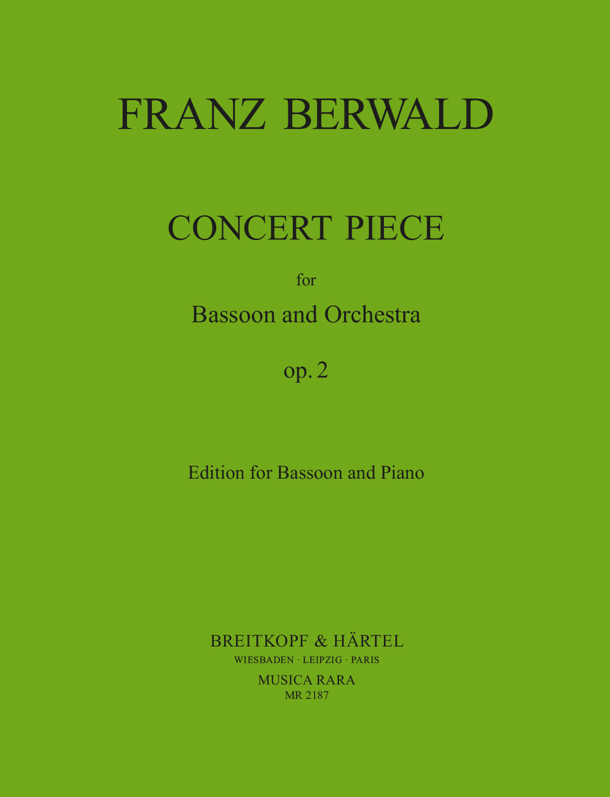 Berwald: Concert Piece in F Major, Op. 2