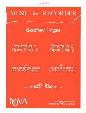 Finger: Recorder Sonata in C Minor, Op. 3 No. 2