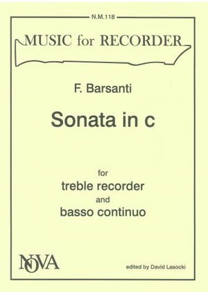Barsanti: Recorder Sonata in C Minor