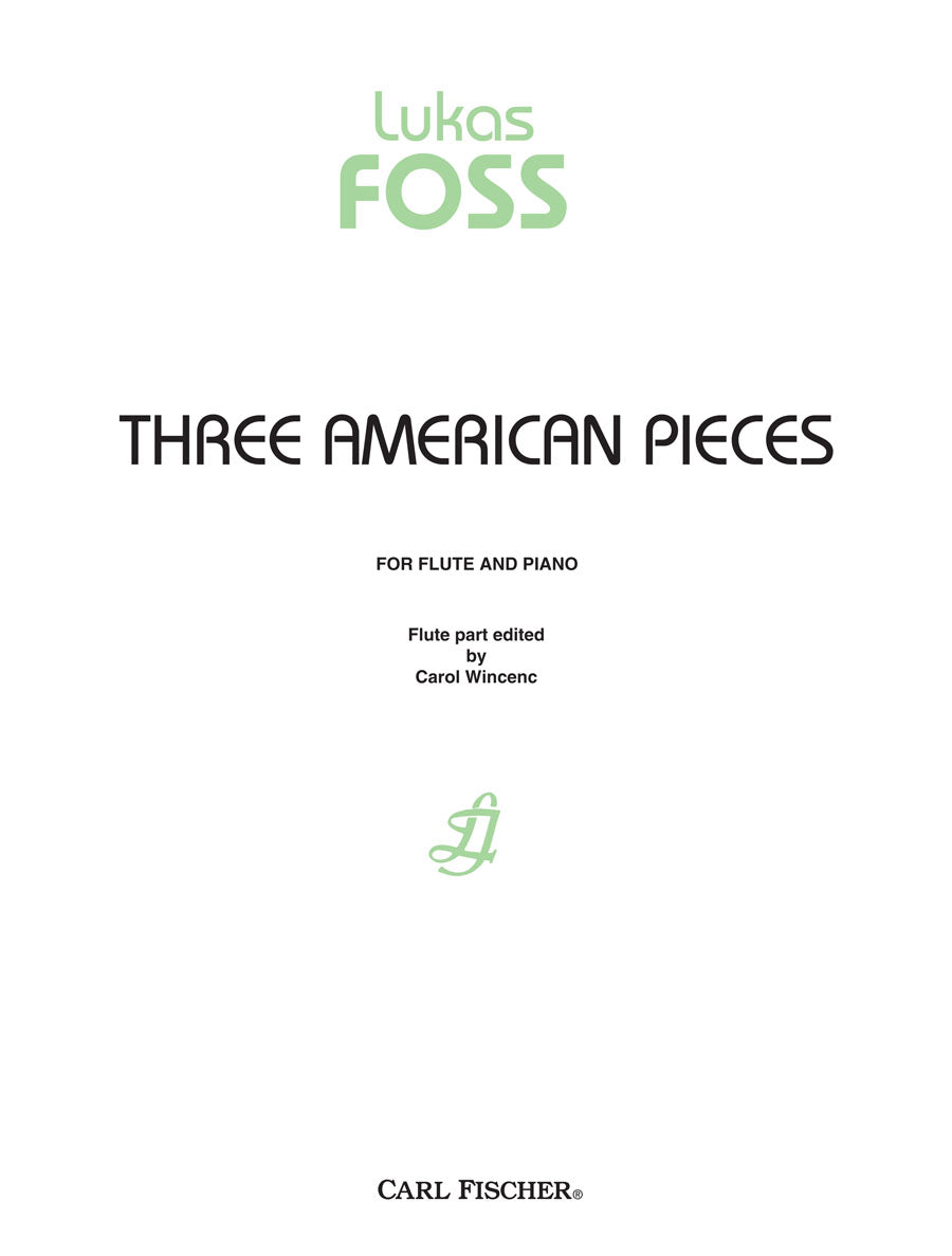 Foss: 3 American Pieces (arr. for flute & piano)