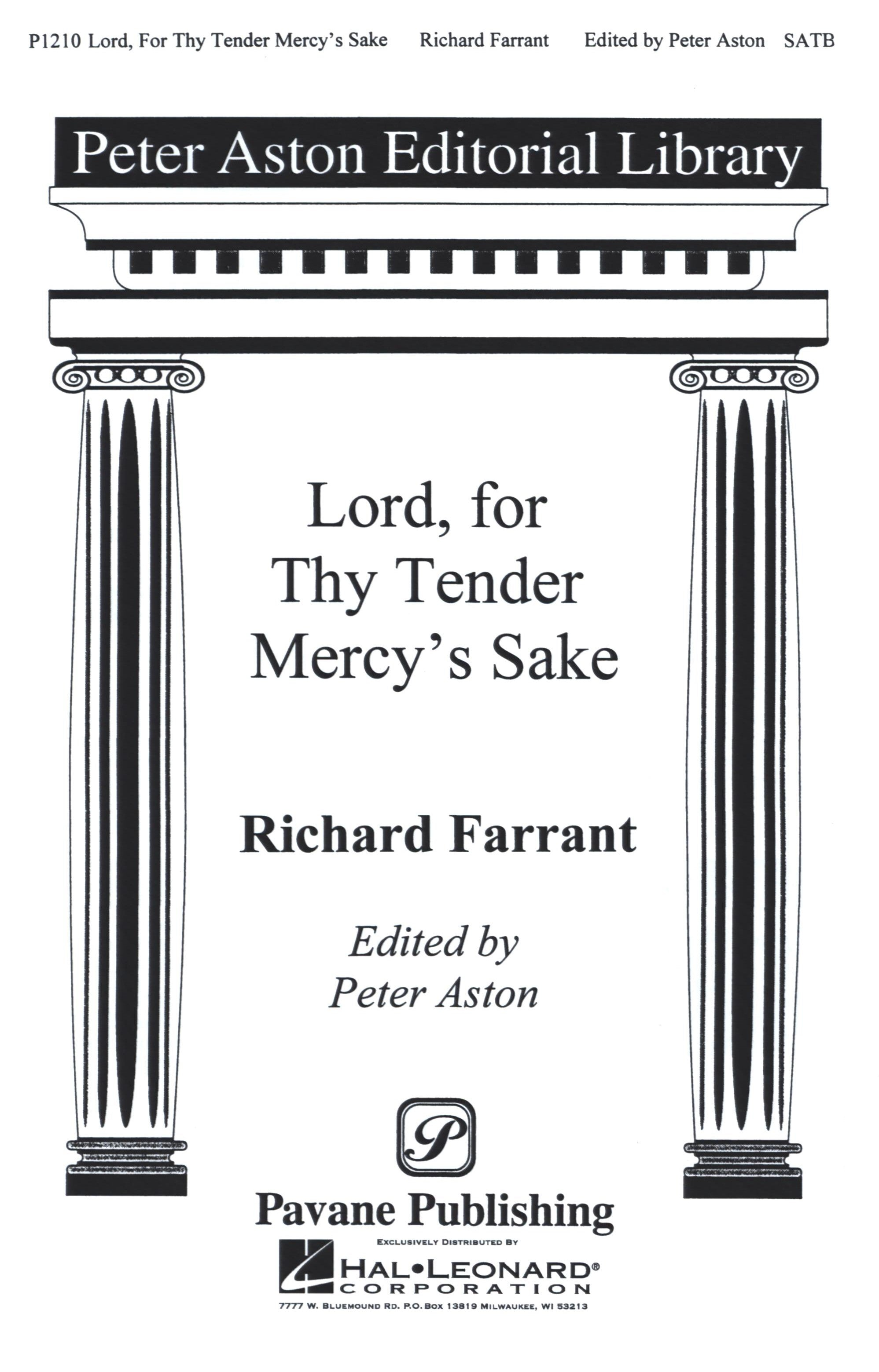 Farrant: Lord, for Thy Tender Mercy's Sake