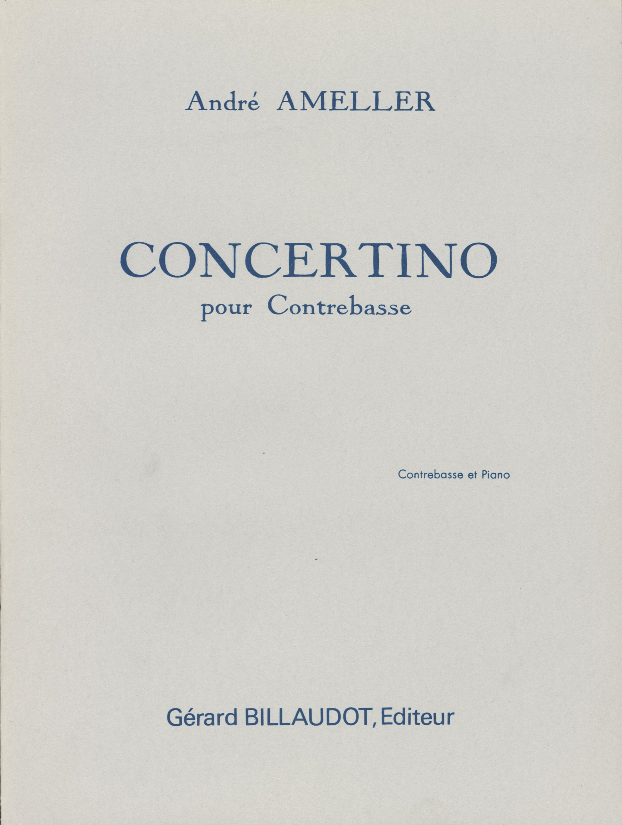 Amellér: Concertino for Double Bass