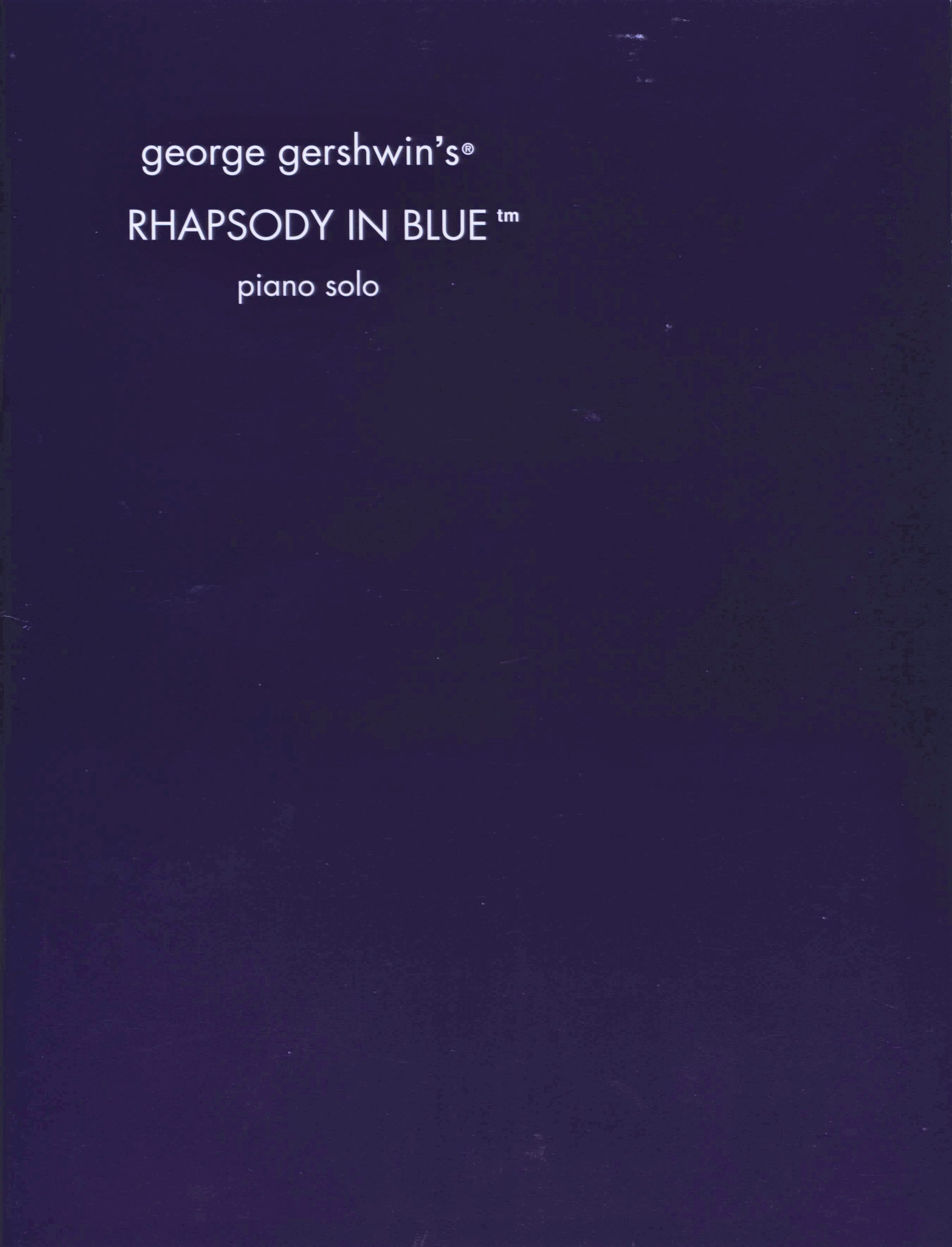 Gershwin: Rhapsody in Blue (Solo Piano)