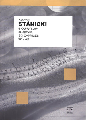Stanicki: 6 Caprices for Solo Viola