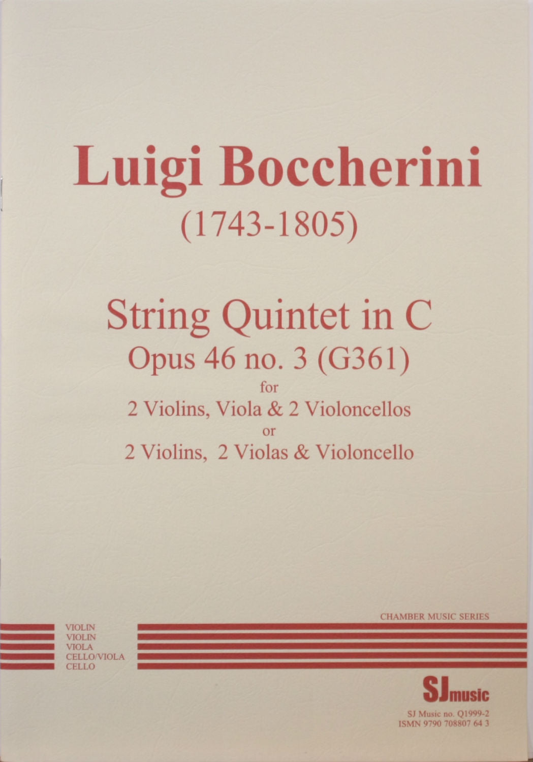 Boccherini: String Quintet in C Major, Op. 46, No. 3, G 361