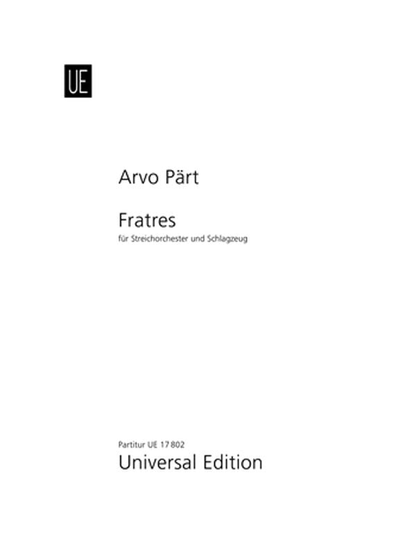 Pärt: Fratres (for string orchestra & percussion)