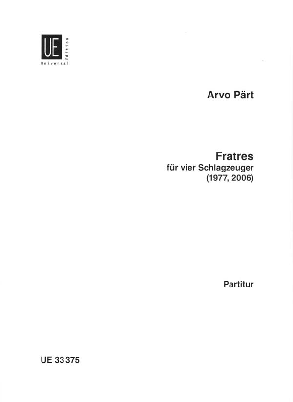 Pärt: Fratres (for 4 percussion players)