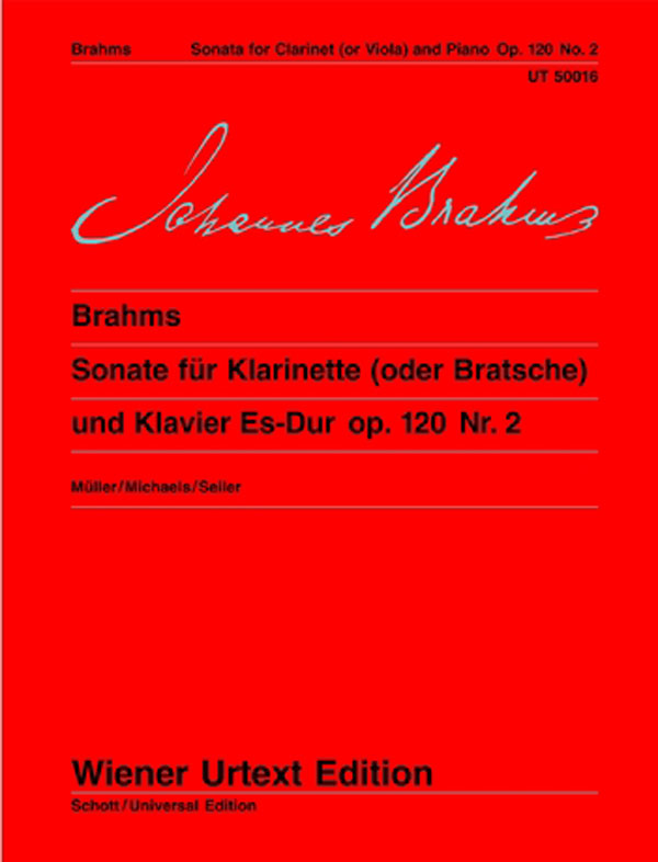 Brahms: Clarinet Sonata in E-flat Major, Op. 120, No. 2
