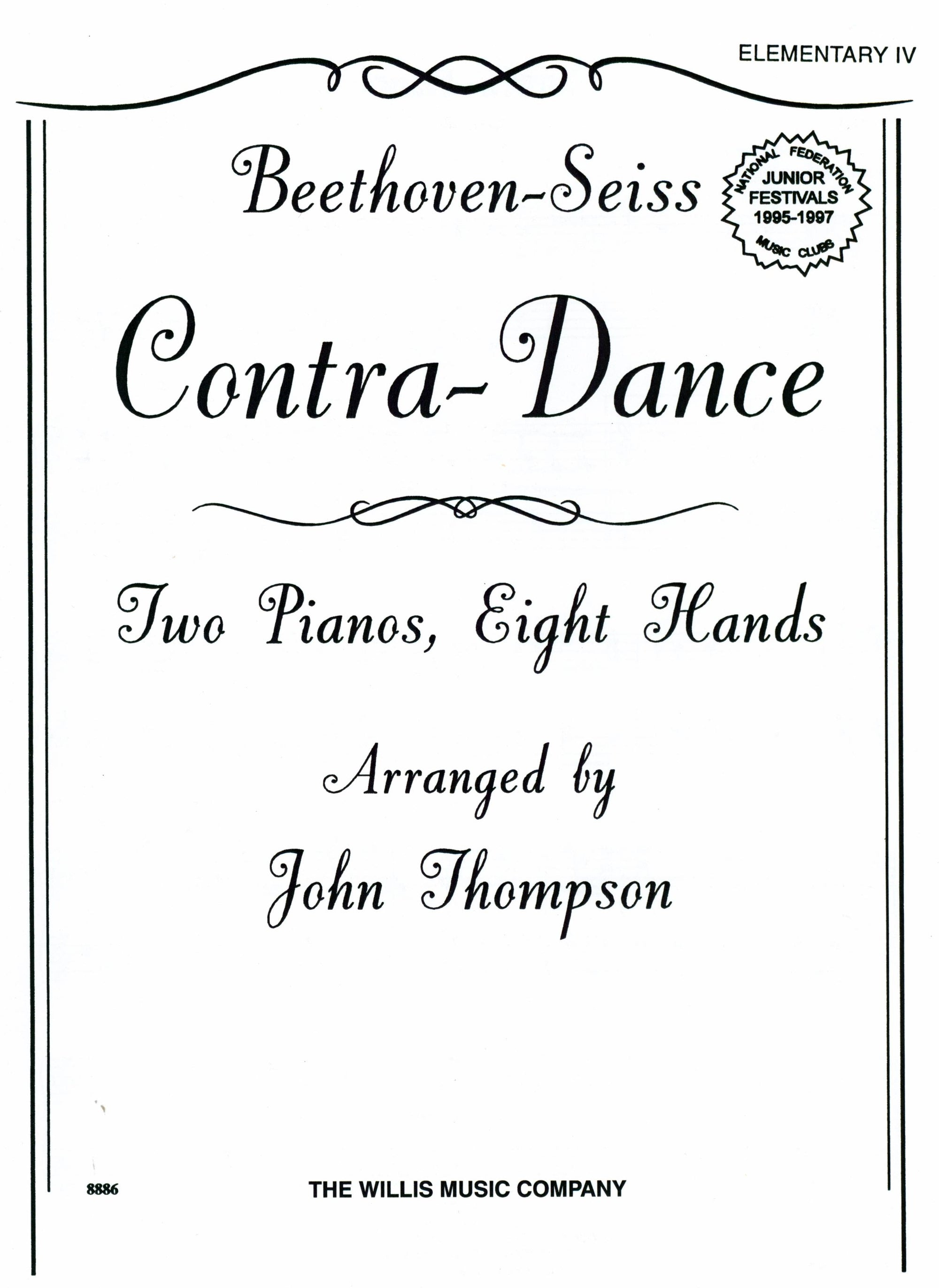Beethoven-Seiss: Contra-Dance (arr. for 2 pianos, 8-hands)