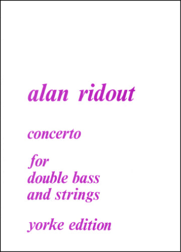 Ridout: Double Bass Concerto