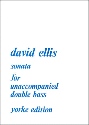 Ellis: Sonata for Solo Double Bass, Op. 42