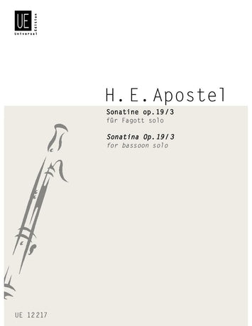 Apostel: Sonatine for Bassoon, Op. 19, No. 3