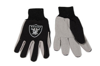 "Raiders ""Two-Tone"" Utility Work Gloves - Los Angeles Source"