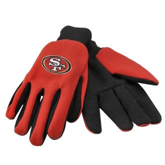 "49ers ""Two-Tone"" Utility Work Gloves - Los Angeles Source"