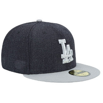 "Dodgers ""Heather Grey"" Fitted Hat - Los Angeles Source  - 3"