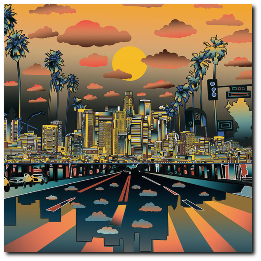 "Los Angeles ""Vibe"" Canvas 20""X20"" - Los Angeles Source  - 2"