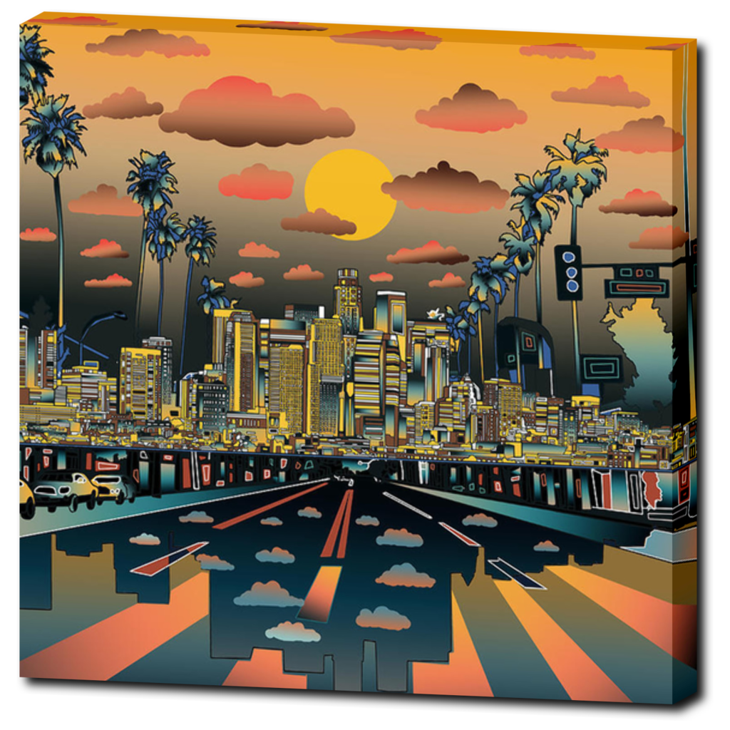 "Los Angeles ""Vibe"" Canvas Print 20""X20"" - Los Angeles Source  - 1"