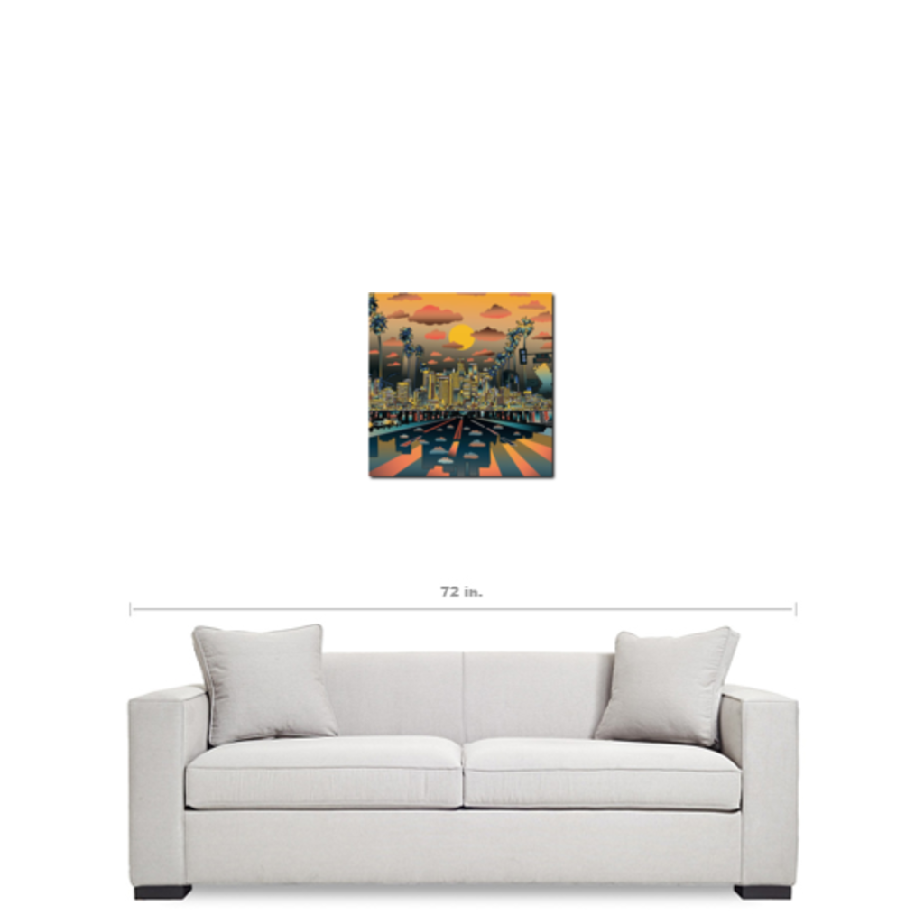 "Los Angeles ""Vibe"" Canvas Print 20""X20"" - Los Angeles Source  - 3"