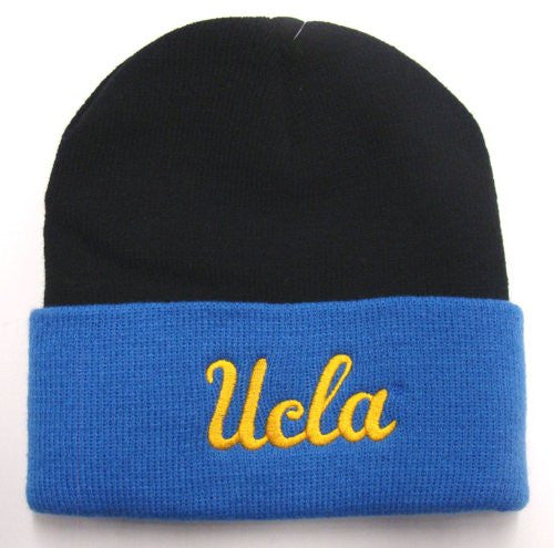 "UCLA Bruins ""2 Tone"" Pom Beanie -  Blue and Black - Los Angeles Source"