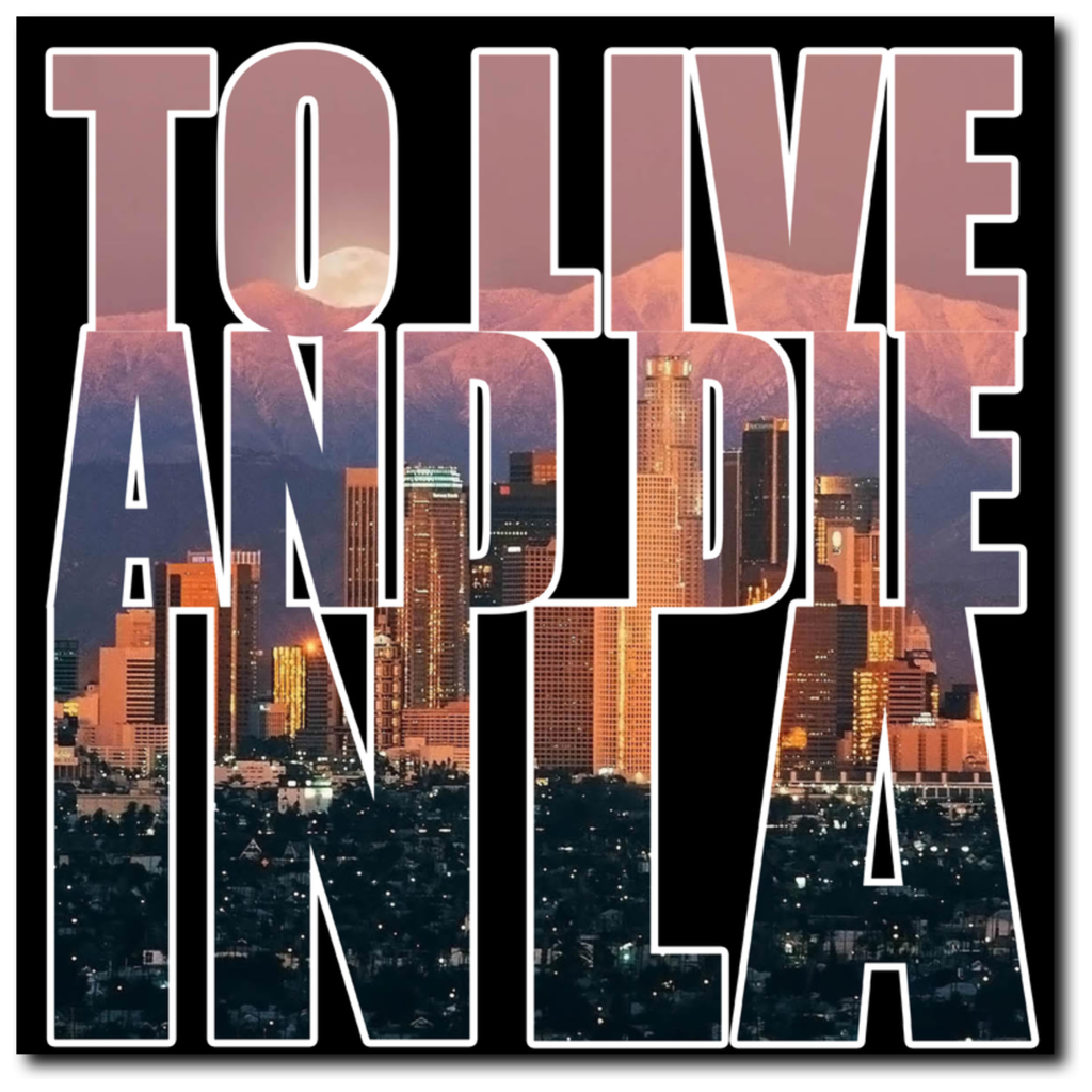 """To Live And Die In LA"" 20""x20"" Canvas Print - Los Angeles Source  - 2"