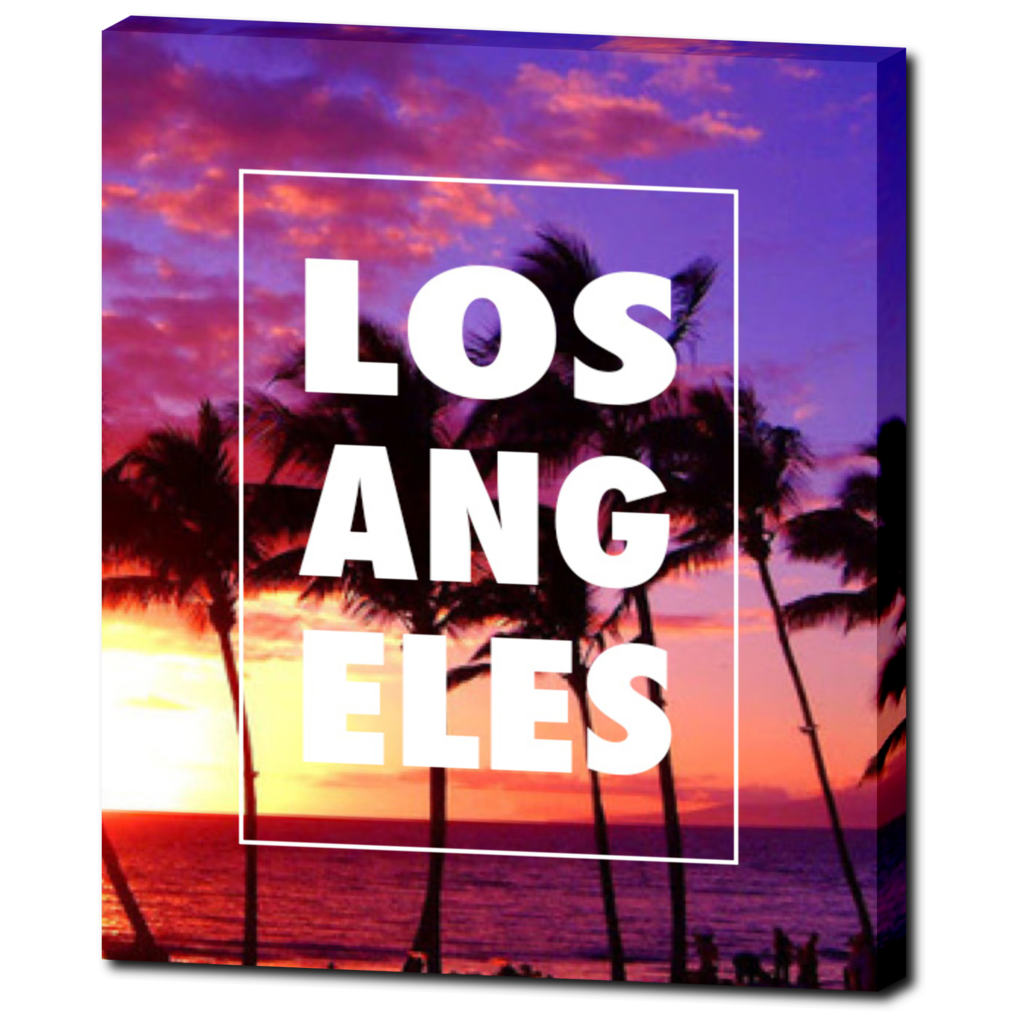 "LA ""Palm Trees"" 20""x24"" Canvas Wrap - Los Angeles Source  - 1"
