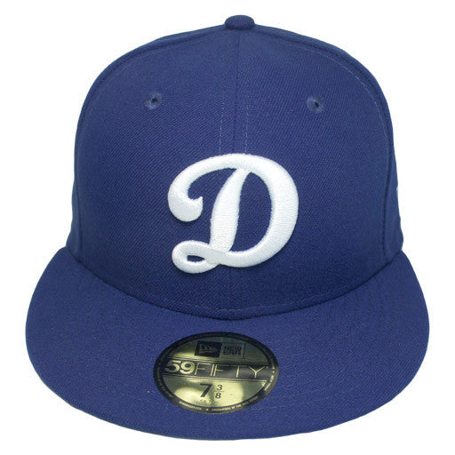 "OKC Dodgers ""D-Logo"" Fitted Hat - Blue - Los Angeles Source  - 3"