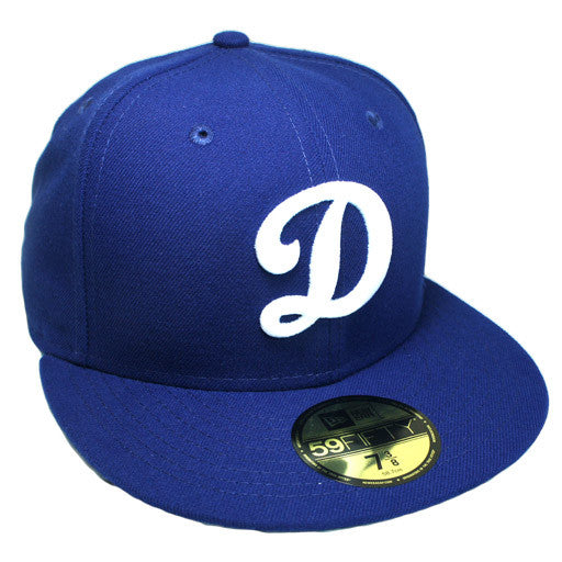 "OKC Dodgers ""D-Logo"" Fitted Hat - Blue - Los Angeles Source  - 4"