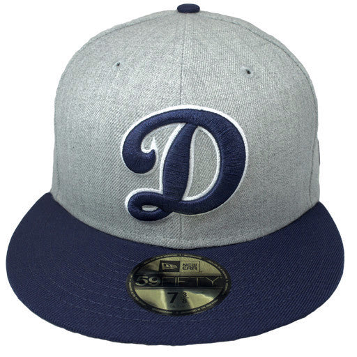 "OKC Dodgers ""D-Logo"" Fitted Hat - Grey + Blue - Los Angeles Source  - 2"