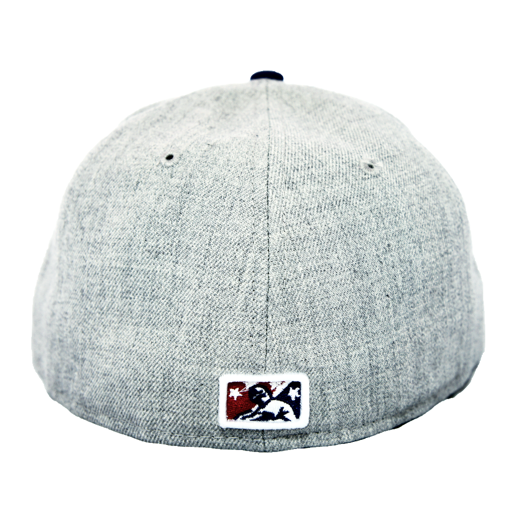 "OKC Dodgers ""D-Logo"" Fitted Hat - Grey + Blue - Los Angeles Source  - 4"
