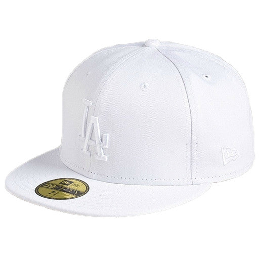 "Dodgers ""White on White"" Fitted Hat - Los Angeles Source  - 1"