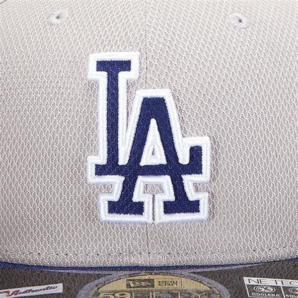 "Dodgers ""Diamond Era"" Fitted Hat - Grey - Los Angeles Source  - 3"