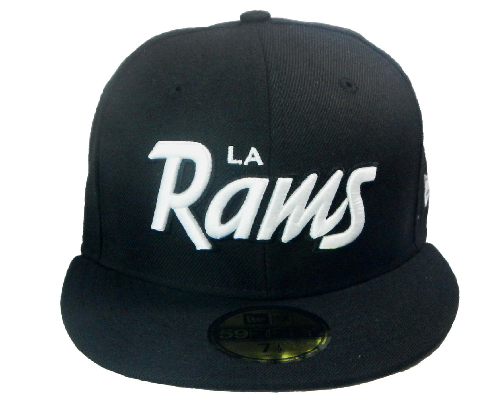 "LA Rams ""Script"" Fitted Hat - Los Angeles Source  - 4"