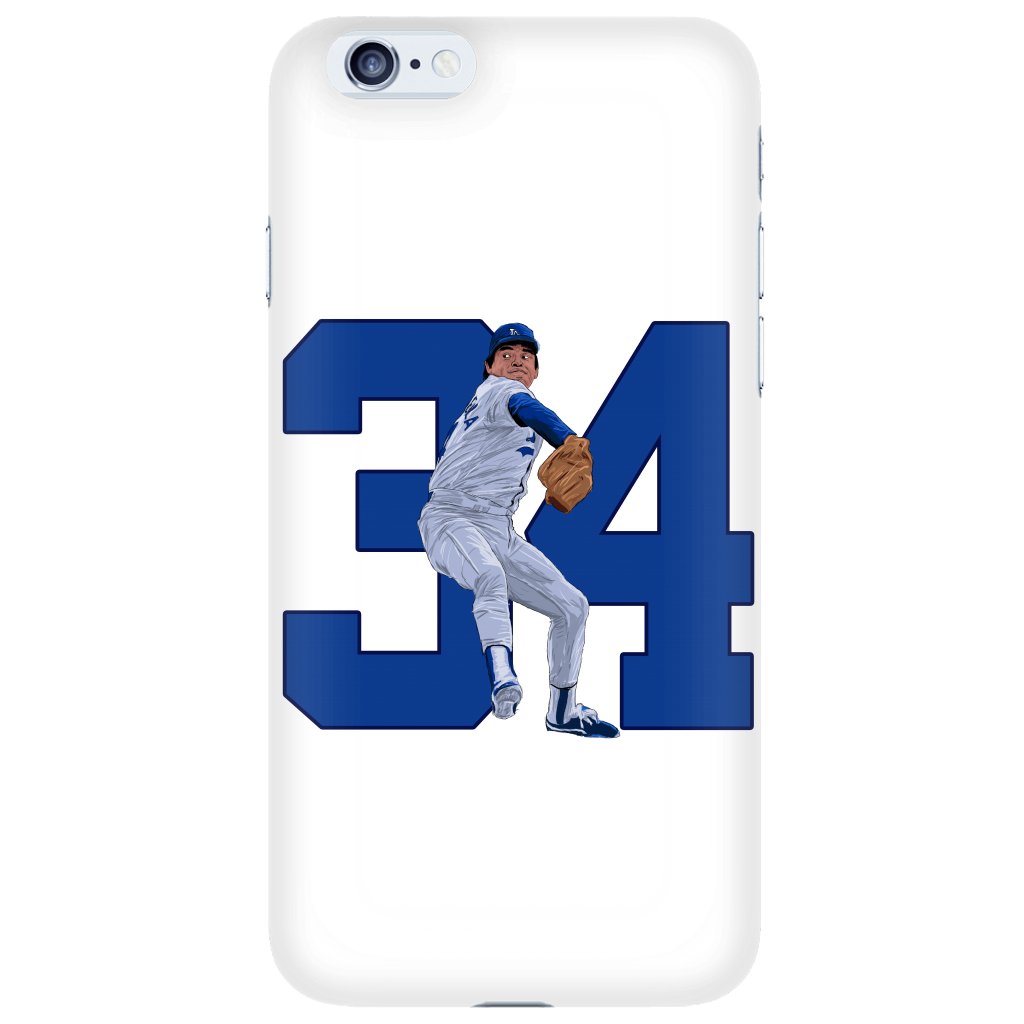 "Fernando Valenzuela ""El Torro"" Phone Case - Los Angeles Source  - 1"