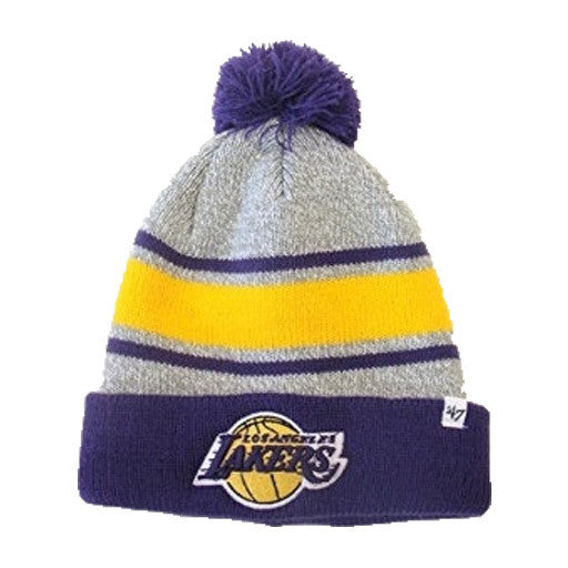 "Lakers ""Oatmeal Cuff Knit"" Pom Beanie - Los Angeles Source"