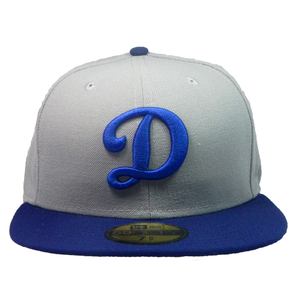 "OKC Dodgers ""D-Logo"" Fitted Hat - Grey/Blue - Los Angeles Source  - 2"