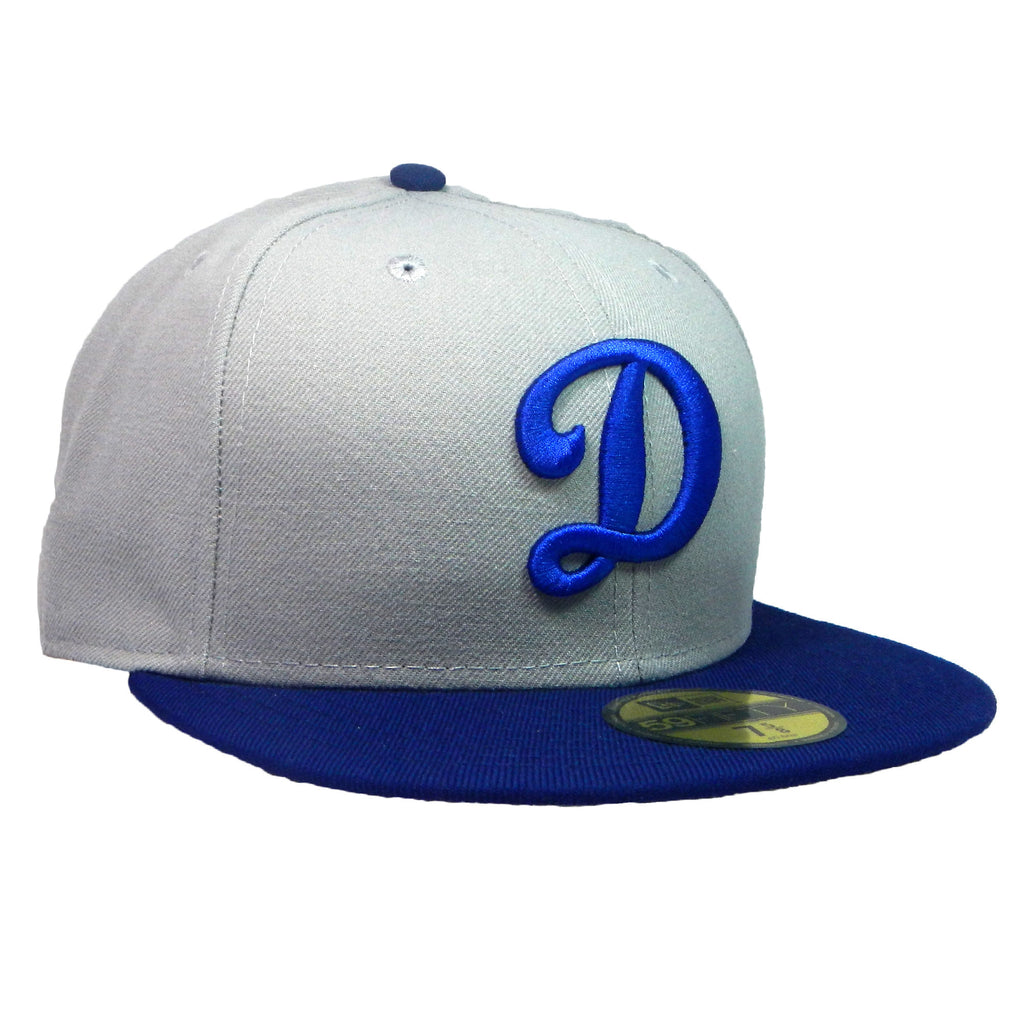 "OKC Dodgers ""D-Logo"" Fitted Hat - Grey/Blue - Los Angeles Source  - 3"