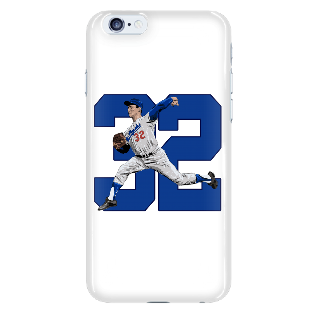 "Sandy Koufax ""The Left Arm of God"" Phone Case - Los Angeles Source  - 5"
