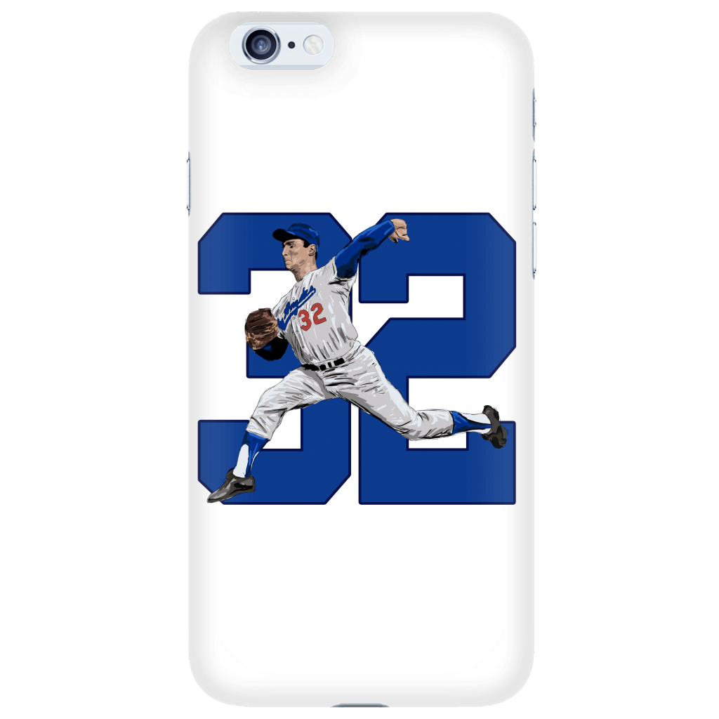 "Sandy Koufax ""The Left Arm of God"" Phone Case - Los Angeles Source  - 1"